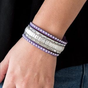 Paparazzi Rock Star Rocker Purple Bracelet